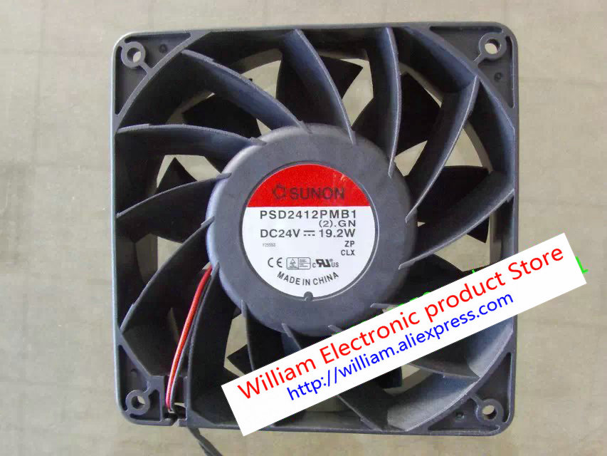 New Original Taiwan SUNON PSD2412PMB1 (2) .GN 24V 19.2W 12038 winds of high pressure dual ball bearing cooling fan<br>