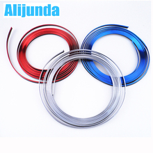 5 m Car Grille Inner Outer Profiles Trim Decorative Ribbon Line for Peugeot 206 207 208 301 307 308 407 2008 3008 4008