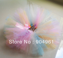 Baby tutus birthday tutu skirt handmade fluffy candy color tutu skirts pic by actual sample(China)