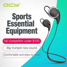 QCY QY8 sports wireless headphones bluetooth 4.1 aptx 3D stereo headsets with Microphone for phone calls(China)