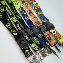 6pcs VR46 Rossi MotoGP M1 Keychain phone Lanyard Fans souvenir gift M1 Working Lanyard for yamaha racing team Fan Rossi Key ring