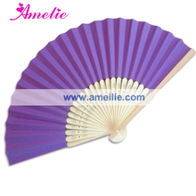 50Piece/Lot Wholesale With Free Shipping Cheap Wedding Personalized Gifts For Guests Customized Paper Fan For Wedding Purple