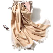 2017 new brand women scarf big size shawls and wraps cashmere pashmina bandana double side soft spring winter scarves