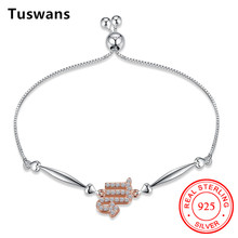 Tuswans Fine 100% Real 925 Sterling Silver Charm Women Bracelet Scorpio 12 Constellation Horoscope Hot Selling Christmas Gifts
