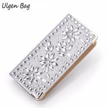 Woman Evening Wallet wedding wallets brands purse dollar price Diamond designer purses card holder coin bag female(China)