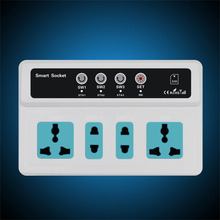 HOT 3 Sockets Mobile Phone GSM SIM Remote Control Wireless Smart Socket Switch Adaptor Promotion