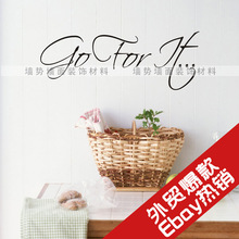 Design new generation fine carved supply positive inspirational English Wall Stickers EWQ0110(China)
