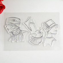 COOLHOO head sculpture Transparent Clear Stamp for Scrapbooking Photo Album Card DIY Making Decoration Supplies