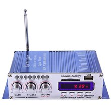 Hi-Fi Car Stereo Power Amplifier Sound Mode Stereo Digital Auto LED Audio Music Player Support USB MP3 DVD SD FM(China)