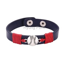 6pcs/lot!Wholesale Jewelry Adjustable Sport Team Boston Baseball Charm Bracelet Fahion Custom Wristband Cuff For Women Men
