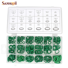 SANHOOII 270Pcs 18 Sizes O-ring Kit Green Metric O ring Seals Nitrile Rubber Gaskets oil resistance(China)