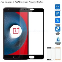 For One plus oneplus 3 three/3T/T 9H Tempered Glass 0.26mm Ultra Thin 2.5D Arc Curved Protect Full Cover Film Screen Protector