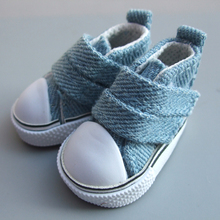 5cm Canvas Jean Doll Shoes For Mini Toy Shoes Bjd Doll Shoes for Russian Handmade Diy Doll Sneakers(China)