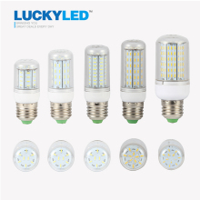 LUCKYLED LED Corn Light Bulb E27 Led Lamp 220V SMD4014 36 56 72 96 138 Leds 360 Angle Chandelier Candle Lighting Lampada Led(China)