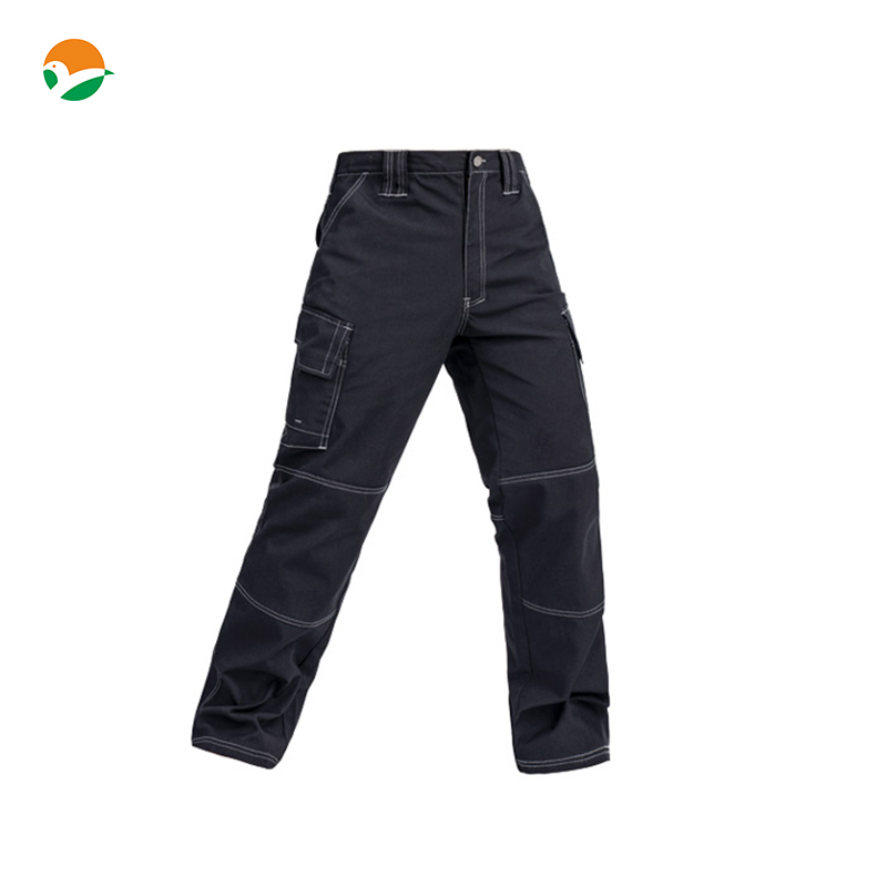 High quality Mens multi-pockets durable black work trousers work pant free shipping<br>