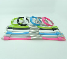 50 PCS/Lot  Wholesale for V8 Micro USB Cable Bracelet Wristband Data Charging Line for Samsung HTC Huawei with Retail Package
