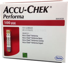 ACCU-CHEK Performa blood glucose Test Strips Expiry 30th.09.2018 Sterile towel Hand sanitizer Alcohol Pad 100PCS(China)