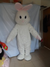2015 Hot Sale fashion white rabbit mascot costume party costumes fancy barney mascot dress costumes outfit