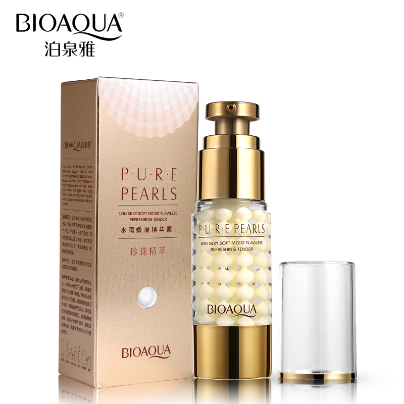 BIOAQUA Brand Pure Pearl Collagen Hyaluronic Acid Face Skin Care Moisturizing Hydrating Anti Wrinkle Anti Aging Essence Cream 21