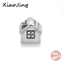 Silver 925 European Original House Charm Beads Pendant Antique Fit Authentic Pandora Bracelets Jewelry Making for women Gifts