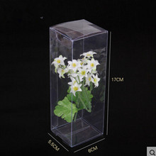 5.5*6*17cm Clear PVC Box Party Candy Boxes Baby Shower Bridal Shower Event Favor Chocolate Cosmetic Packaging Pack Box Plastic