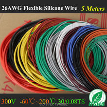 5M 16.4FT -26 AWG Flexible Silicone Wire RC Cable 26AWG 30/0.08TS Outer Diameter 1.5mm With 10 Colors to Select
