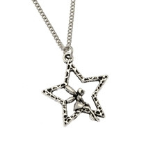 1pcs Fashion Antique Silver Angel Pretty Wish upon a Star Fairy Pendant 50-70cm Chain Necklace Gift Ne198