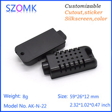 szomk plastic case small humidity sensor electronics box (2 pcs) 59*26*12mm abs instrument enclosure project box control box