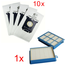 10x Vacuum Cleaner Dust Bags s-bag and 1x H12 Hepa filter fit for Philips Electrolux Cleaner Free Shipping(China)