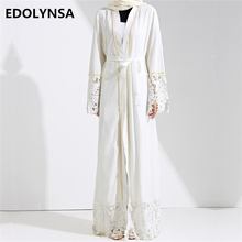 Dubai Abaya Muslim Dress Solid Plus Size Robe Knitting Dubai Abaya Dresses Kaftan Abaya Dresses Brand Fashion Muslim Dress #D281(China)
