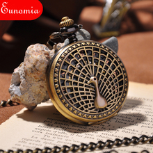 Peacock Gold Fashion Mechanical Pocket Watch PW023(China)