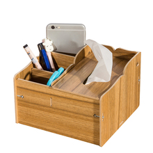 DIY Wood Pen Holders With other Function of Tissue Case Office Accessories Kalemlik Desk Accessories Organizer Organizador(China)