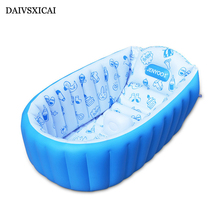 Daivsxicai Retail High-Quality Summer Portable Baby/Kid/Toddler Inflatable Bathtub Newborn Thick Green Bath Tub Baby Tubs(China)