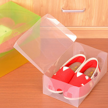 New Multifunction Thickened Plastic Shoe Box Transparent Crystal  Household Shoebox Storage Box