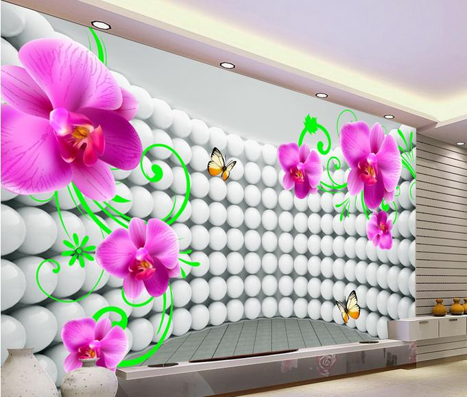luxury wallpaper customized wallpaper for walls 3 d stereoscopic Phalaenopsis wallpaper TV backdrop papel de parede 3d<br><br>Aliexpress