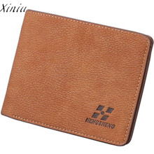 Short Men Wallets Bifold Business Leather Wallet Money Card Holder Coin Bag Purse Gift For Men Card Holder Bifold Male Purse(China)