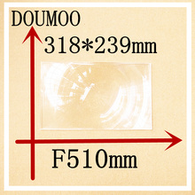 Large fresnel lens Rectangle 318*239 mm Focal length 510 mm Condenser lens Plastic fresnel lens Plane magnificat fresnel lens(China)