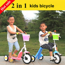 2 in 1 kids ride car, can convert to scooter, frame carbon alloy steel 3 PU wheels scooter tricycle