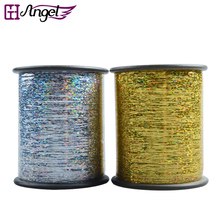 Wholesale 120rolls Laser Sparkling Hair Tinsel Thread Golden/Silver Tinsel for Hair Extensions Hairdressing Accessories(China)