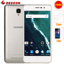 Free Case+film Doogee x10 3360 Mah 3G WCDMA Android 7.0 8GB ROM MTK6570 5.0MP Camera Dual SIM 5.0 inch IPS wifi GPS Cell Phone