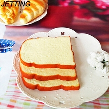 1PCS Jumbo Squishy Sliced Toast Toy Soft Bread Scented Funning Hand Pillow Gift Home Kitchen Decoration Mobile Phone Straps