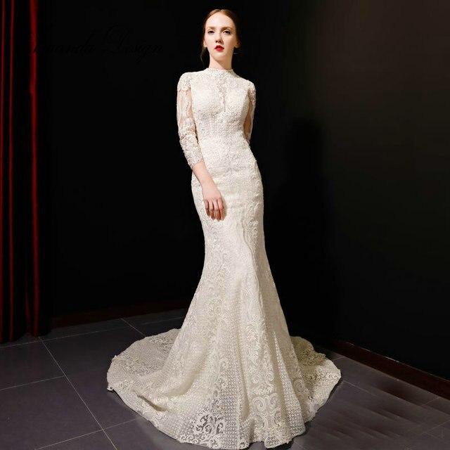 Aliexpress.com : Buy Amanda Design High Neck Three Quarter Sleeve ...