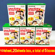 new 100 sheets High quality Original Fujifilm instax mini 8 film for 7S 8 25 50s polaroid instant camera mini film white edage