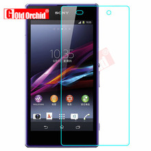 Gold Orchid Tempered Glass Sony Xperia Z1 Z2 Z3 Z4 Z5 Premium 0.26mm 2.5D Screen Protector Film Z1 Z2 Compact M2 M4 Film