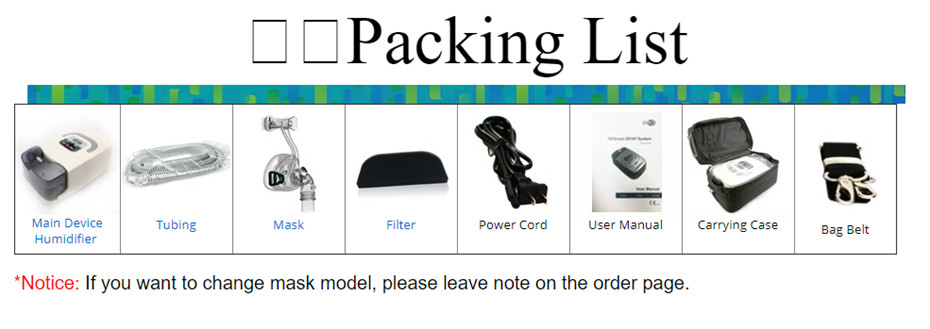 cpap packing list