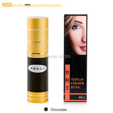 Hao Tattoo JX23 Chocolate Eyebrow Permanent Makeup Pigment Vacuum Sterile Cosmetic Tattoo Ink 45ml Makeup Supplies