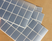 96 x Blank Price Tag Self Adhesive Silver Vinyl Sticky Label Sticker 20 x 30 mm