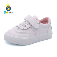 Baby Shoes Girls 1-3 Years Old Soft Bottom Baby Boys Casual Shoes 2018 Spring New Lovely Study Baby Walking Shoes Small White(China)