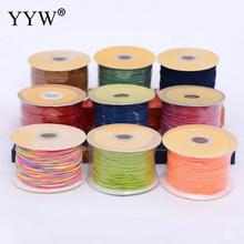 1mm Satin Nylon Cord Knotting cord Jewelery supplies For Necklace Jewelry Crafts 100 Yards DIY Polyamide Cord