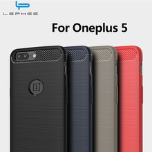 LEPHEE Oneplus 5 Cover One Plus 5 Case Silicon Soft TPU Carbon Fiber Matte Cover for Oneplus 5 Phone Case one Plus Five 1+5 5.5""
